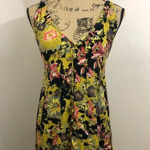 Free People Floral Tank Top size Small